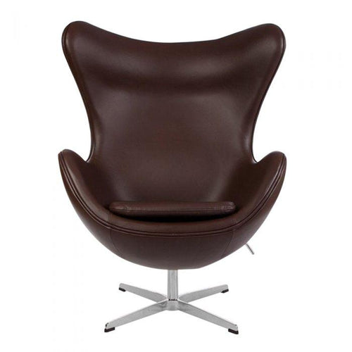 CHAIRS - Egg Chair Leather Brown