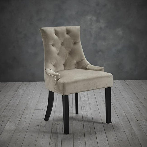 CHAIRS - Glamour Velvet Chairs Beige (x2)