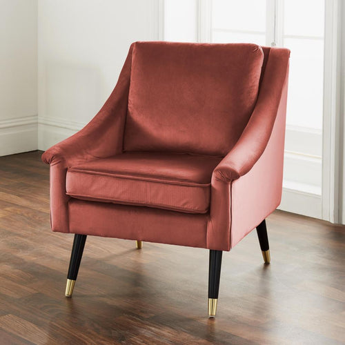 CHAIRS - Hune Velvet Armchair Rose