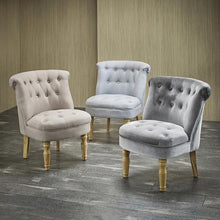 Load image into Gallery viewer, CHAIRS - Jewel Linen Chair Duck Egg Blue