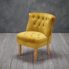 Load image into Gallery viewer, CHAIRS - Jewel Velvet Chair Mustard