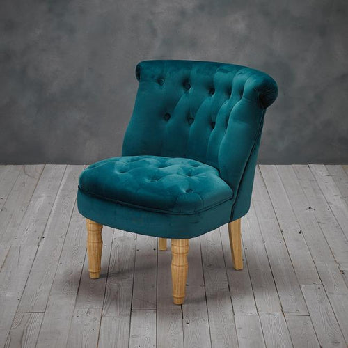 CHAIRS - Jewel Velvet Chair Teal