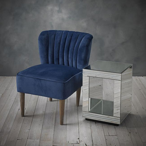 CHAIRS - Kate Velvet Shell Chair Midnight Blue