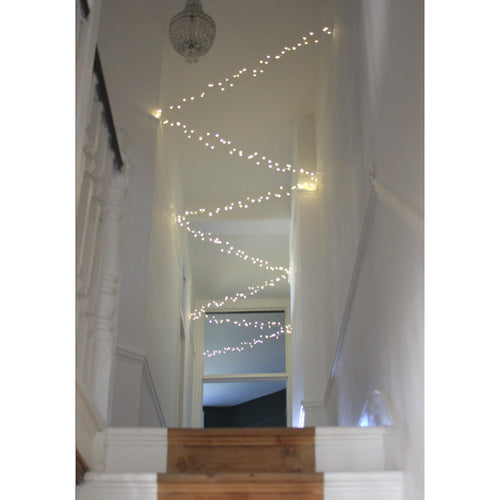 Cluster Chain Lights Silver