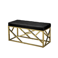 Load image into Gallery viewer, Nouveau Velvet Bench Black