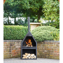 Load image into Gallery viewer, OUTDOOR - Wetherby Fireplace With Grill Black