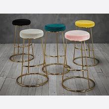 Load image into Gallery viewer, STOOLS - Cocktail Velvet Bar Stools Champagne (x2)