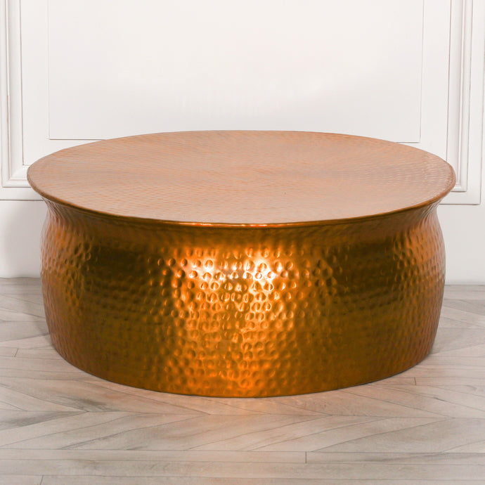 STOOLS - Hammered Coffee Table Gold