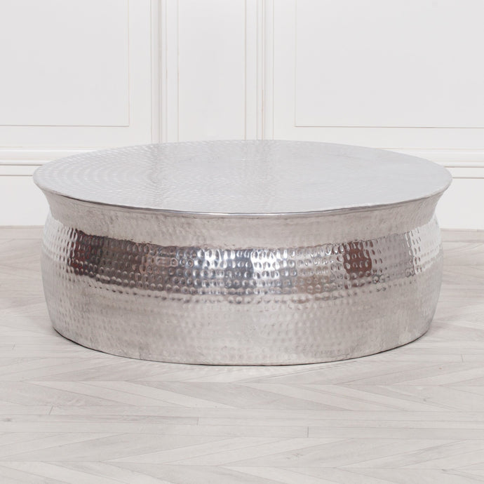 STOOLS - Hammered Coffee Table Silver