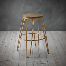 Load image into Gallery viewer, STOOLS - Industry Hairpin Bar Stool Gold