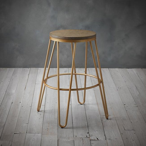 STOOLS - Industry Hairpin Bar Stool Gold