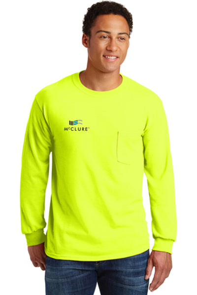 Safety: Long Sleeve T-Shirt w/pocket (#2410)