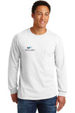 Gildan Long Sleeve T-Shirt w/Pocket (#2410)