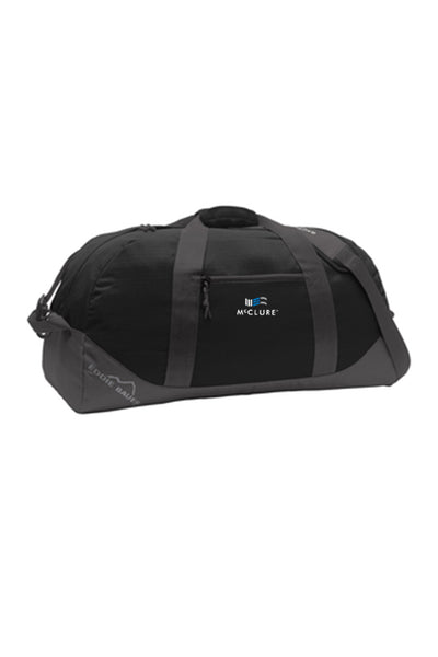 Eddie Bauer Large Ripstop Duffel Bag #EB901 (Black/Grey Steel)