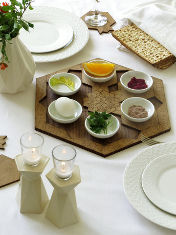 modern Judaica - Passover night table