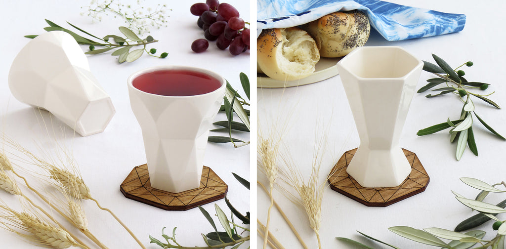 Modern Kiddush Cups