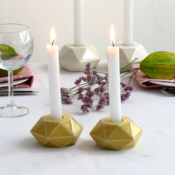 ceramic candle holders