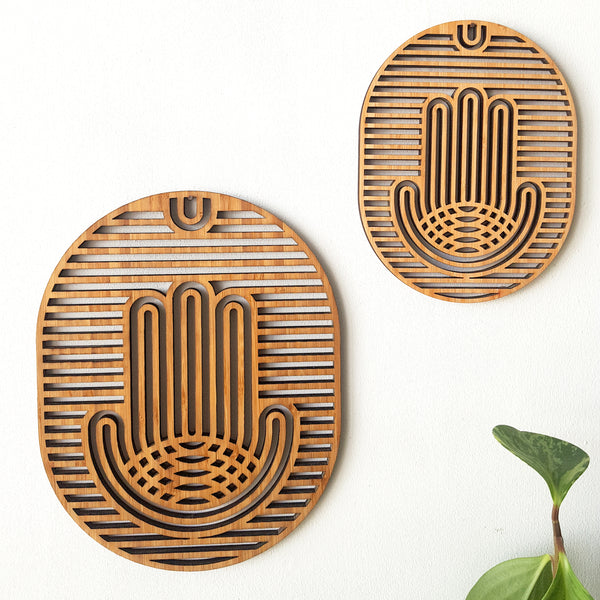 Hamsa Wall Art made of Bamboo