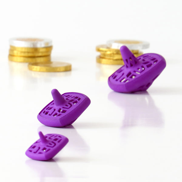 Set of 3 nesting Hanukkah dreidels - inspired by matryoshka