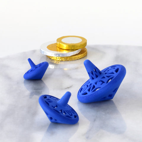 Father's day gift idea - Nesting spinning tops - for technology fan fathers - these dreidels are 3D printed!