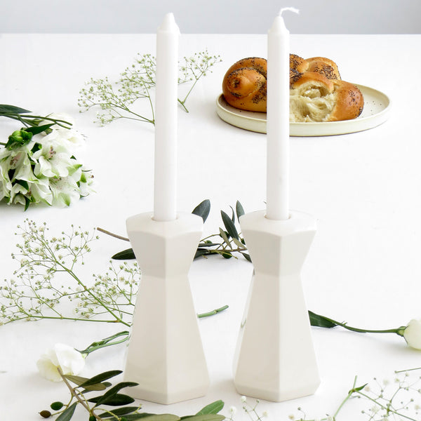 Pair of candle holders - Shabbat candlesticks