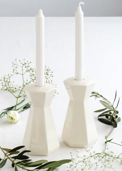 Jewish wedding gift - shabbat candlesticks