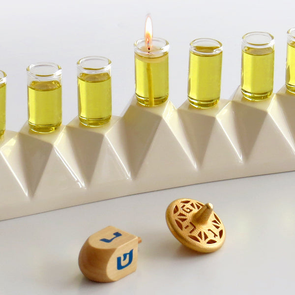 Modern Hanukkah Menorah Chanukkah Oil Menorah