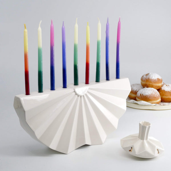 Contemporary Judaica - Origami inspired Hanukkah Menorah