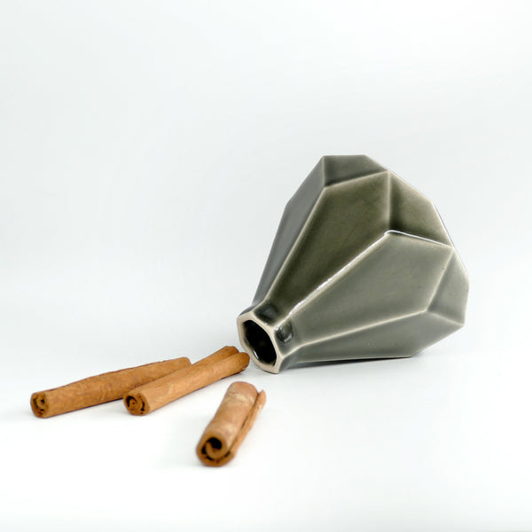 Besamim holder - modern judaica - geometric ceramic