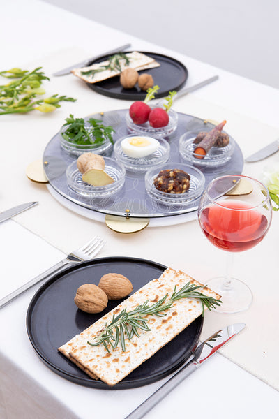 modern Judaica Seder Table setting - hostess gift from Israel