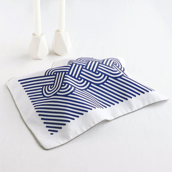 challah cover for modern shabbat table - geometric op art design