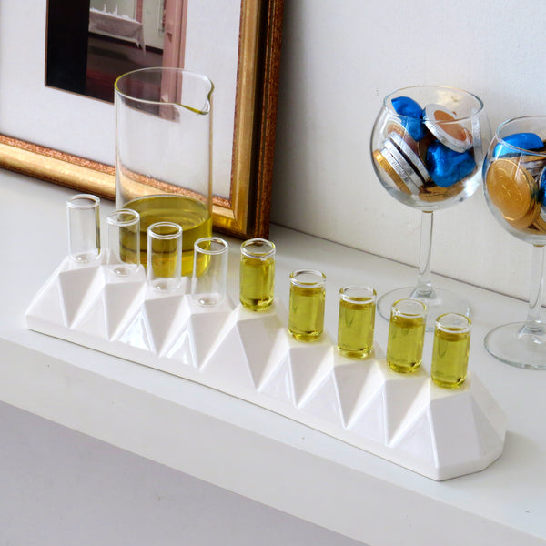modern oil menorah