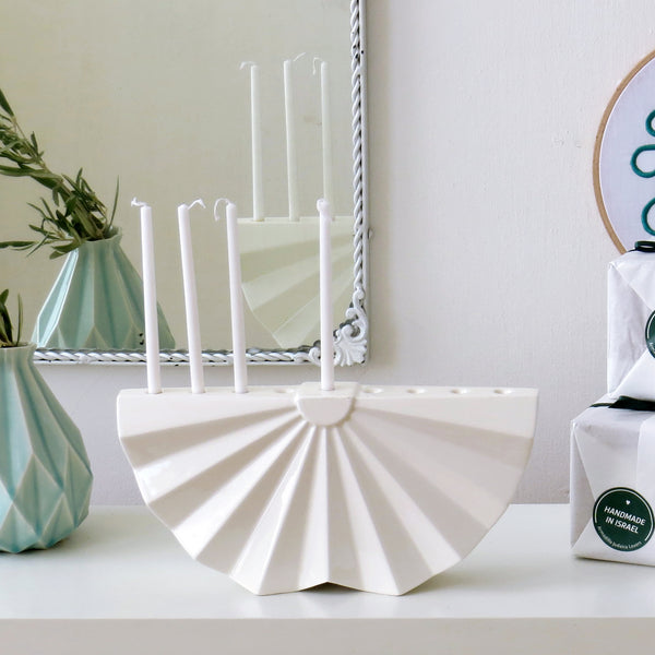 modern menorah design  - for contemporary jewish home
