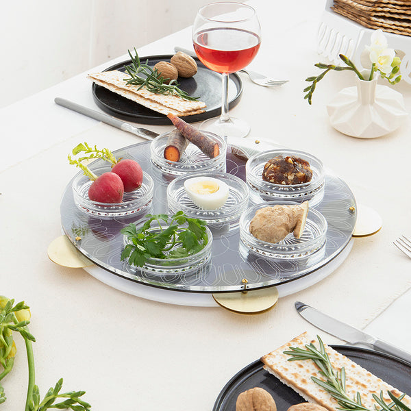 Passover 2019 Seder Table  - contemporary , inspired by Miriam Tambourine