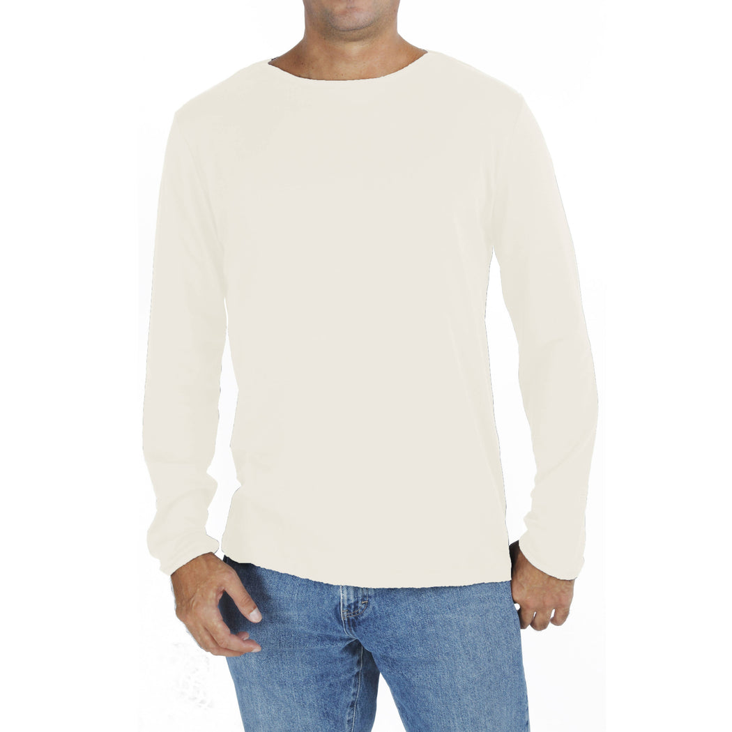 LONG SLEEVE BOAT NECK T-SHIRT