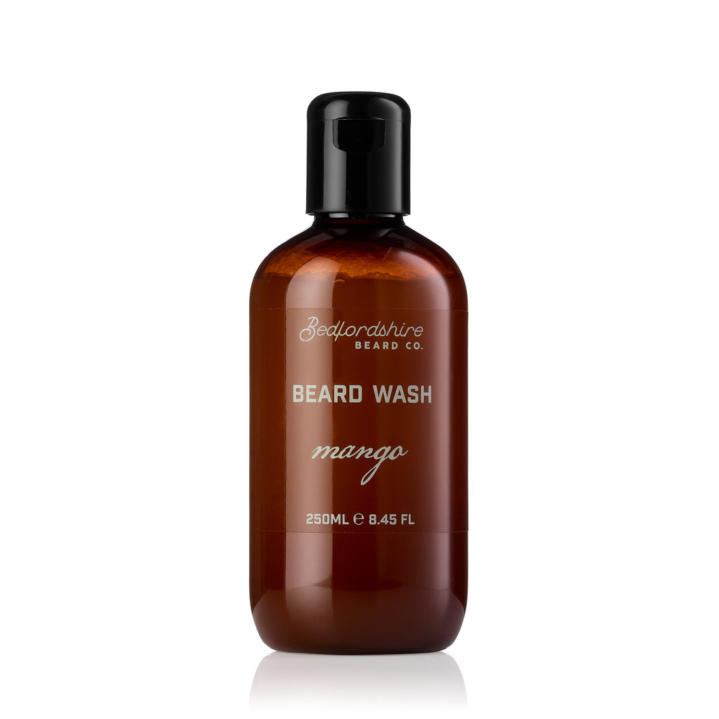 Bedfordshire Beard Co Mango Beard Wash 250ml & 50ml