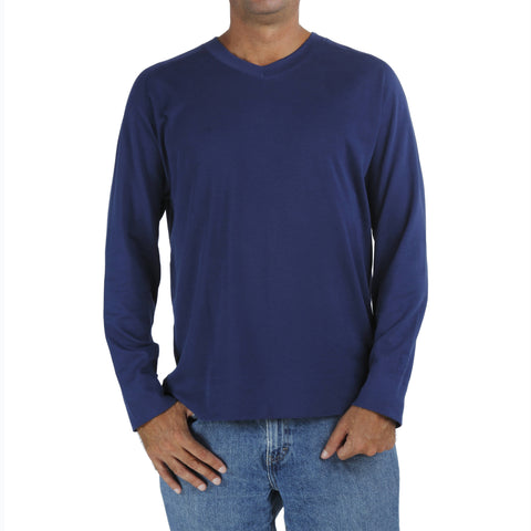 B.e Quality Men's RAGLAN LONG SLEEVE V NECK SHIRT