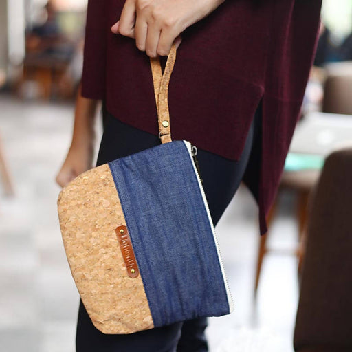 Clutch cork mix with Jeans