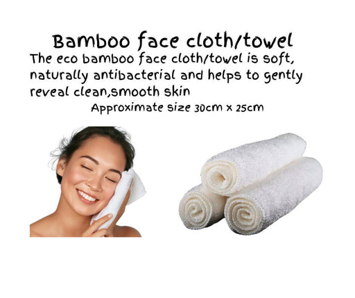60 Unboxed Bamboo face cloths