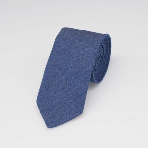 Melange Blue Cotton Tie