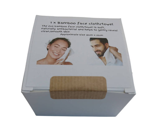 9 Boxed Bamboo face cloths / towels