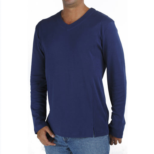 B.e Quality Men's LONG SLEEVE V NECK T-SHIRT