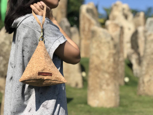 Big triangle cork pouch