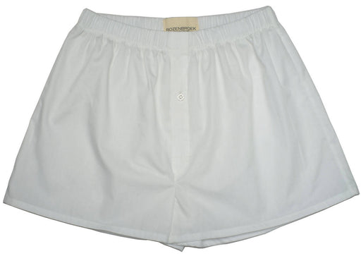 White Organic Poplin Cotton Boxer Shorts