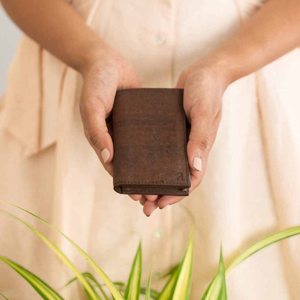 Brown Reed Business Card Holder