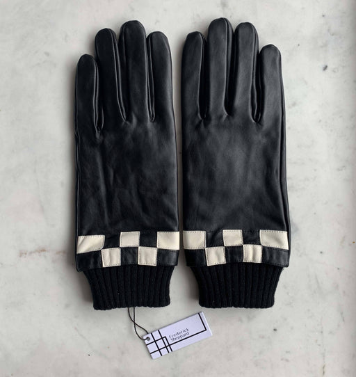 Frederick Sheppard Men's Black White checker Leather Gloves
