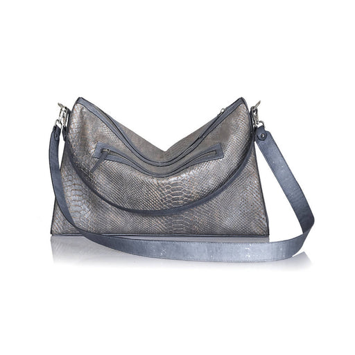 Ananta Cork Hobo - Alligator Blue
