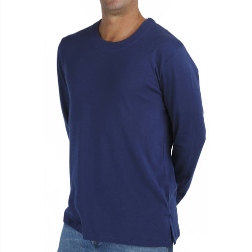 B.e Quality Men's LONG SLEEVE CREW T-SHIRT