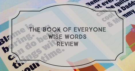 The Book of Everyone Wise Words Review