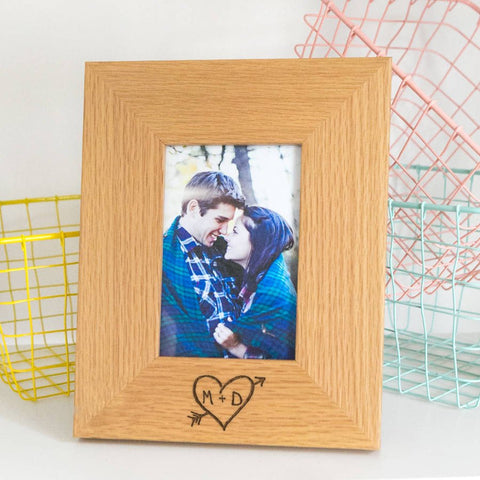 valentines gift ideas carved heart photo frame